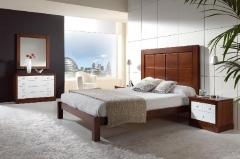 Dormitorio nogal 3118 de mil�n mobiliario