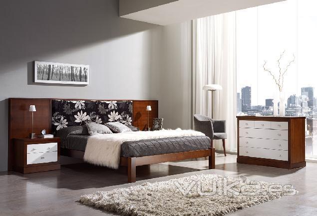 Dormitorio Nogal 3119 de Mil�n Mobiliario
