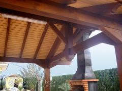 Estructura de madera con cercha