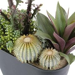 Planta artificial crasas cactus 1 en la llimona home