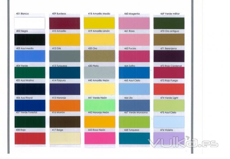 Foto carta de colores de poli flex premium for Muestrario colores pintura