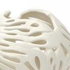 Portavelas cerámica blanco pequeño 1 en la llimona home