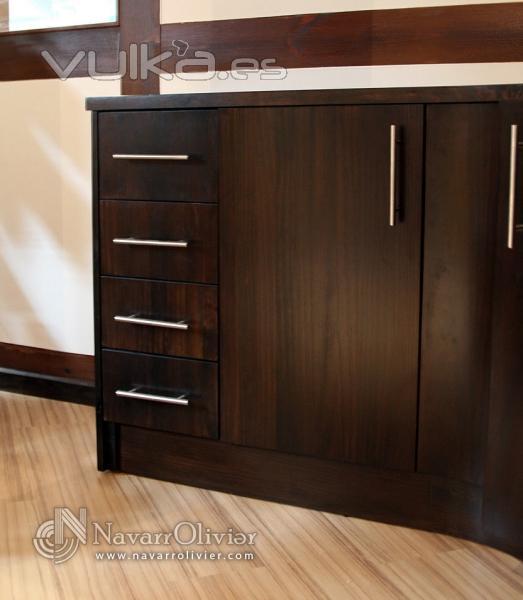 Foto: puertas de muebles en wengue