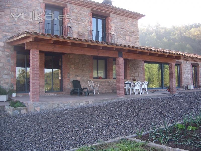 Foto porche rustico en casa rural - Casa al rustico ...