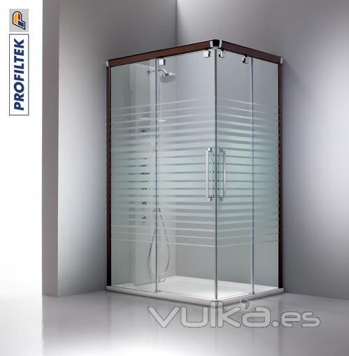 Foto mampara de ducha angular corredera vetro vt220 con 2 - Instalar una mampara de ducha ...