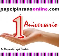 Papelpintadoonline.com 1 aniversario, lideres en venta online de papeles pintados y fotomurales