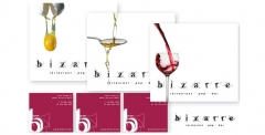 Bizarre pop bar:  naiming, imatge corporativa, i papeleria per bizarre pop bar (www.bizarre.cat)