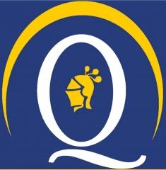 Quirino & brokers - logo empresa azul amarillo y blanco