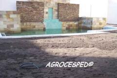 Preparacion terreno e instalacion riego agrocesped