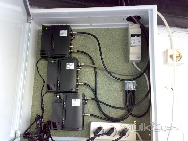 Instalación de amplificación de antena en Hostal Maestre
