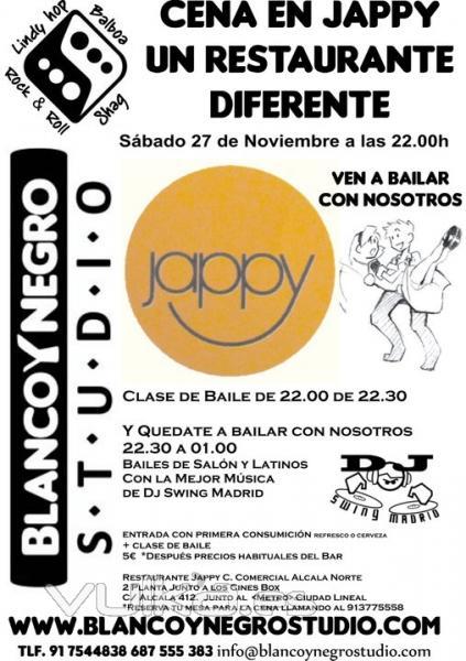 Bailes de Salón y Latinos en el Restaurante Jappy. Cena y quédate a Bailar