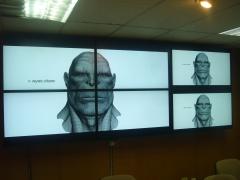 Video wall en sala de control - base de rota - cádiz