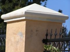 Remate especial para pilares de 60x60