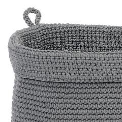 Panera baño gris redonda grande en lallimona.com detalle1