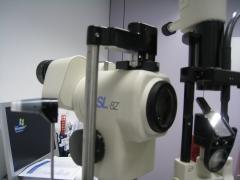 Biomicroscopio para examen ocular
