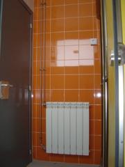 Instalación de calefacción con tubería de acero inoxidable