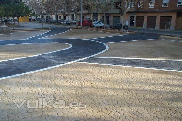 Foto hormigon impreso en una glorieta en valencia for Hormigon impreso en valencia