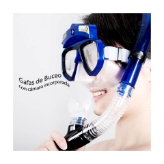 Gafas de buceo con abs duro, goma flexible de alta calidad y vidrio templado para buena visión...