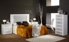 Dormitorio casta�o blanco plata