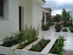 Construcci�n jard�n casa particular en sotogrande