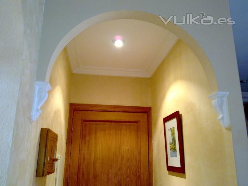 Foto arco forjado con placas de escayola - Molduras de escayola en madrid ...