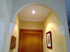 Arco forjado con placas de escayola