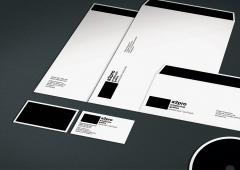 Realizaci�n de identidad corporativa para una empresa de producci�n de vinilos y lonas en gran forma