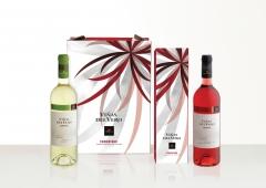 Nueva imagen para el packaging de regalo de esta importante marca de vino, basado en una parte del l