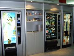 Exposicion permanente de maquinas expendedoras necta, cafe, snacks, bebidas y mobiliario vending