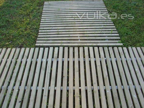 Foto alfombras de madera para exterior - Alfombras de madera ...
