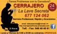 Cerrajero 24 horas, 677124062 Tudela-Navarra, La Llave Secreta
